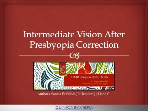 INTERMEDIATE VISION AFTER PRESBYOPIA CORRECTION